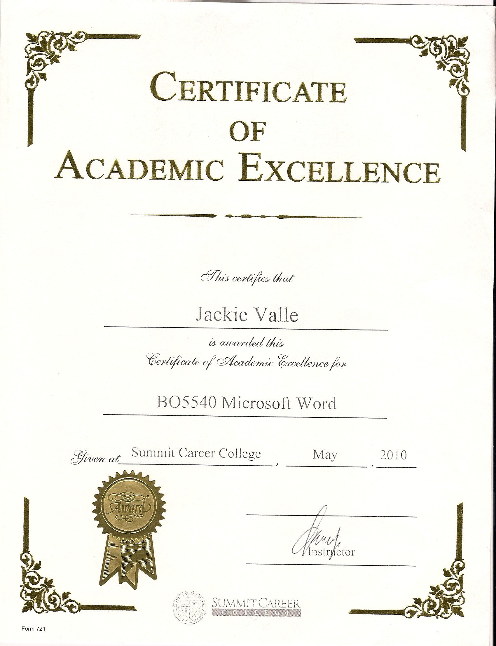 certificate template word portrait - awards and certificates jacqueline valle professional